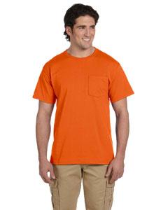 Safety Orange 5.6 oz., 50/50 Heavyweight Blend™ Pocket T-Shirt