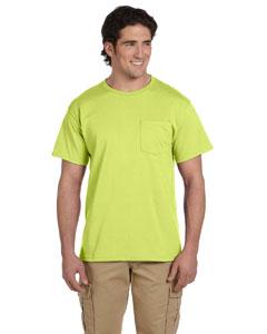 Safety Green 5.6 oz., 50/50 Heavyweight Blend™ Pocket T-Shirt