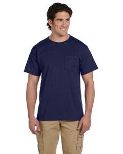 J Navy 5.6 oz., 50/50 Heavyweight Blend™ Pocket T-Shirt