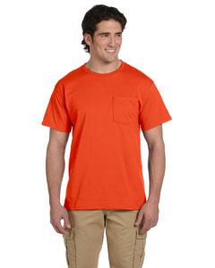 Burnt Orange 5.6 oz., 50/50 Heavyweight Blend™ Pocket T-Shirt