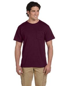 Maroon 5.6 oz., 50/50 Heavyweight Blend™ Pocket T-Shirt
