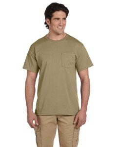 Khaki 5.6 oz., 50/50 Heavyweight Blend™ Pocket T-Shirt