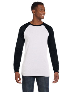 White/black Men's Jersey Long-Sleeve Baseball T-Shirt