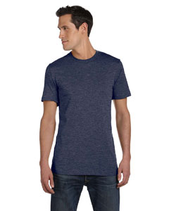 Heather Navy Unisex Jersey Short-Sleeve T-Shirt