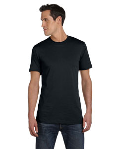 Solid Blk Blend Unisex Jersey Short-Sleeve T-Shirt