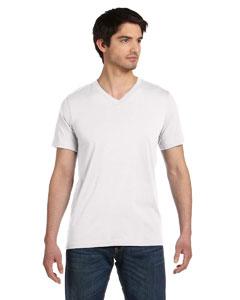 White Unisex Jersey Short-Sleeve V-Neck T-Shirt