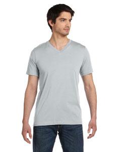 Silver Unisex Jersey Short-Sleeve V-Neck T-Shirt
