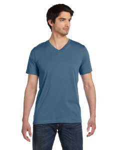 Steel Blue Unisex Jersey Short-Sleeve V-Neck T-Shirt