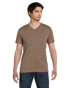 Heather Brown Unisex Jersey Short-Sleeve V-Neck T-Shirt