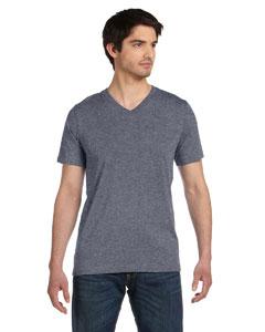 Deep Heather Unisex Jersey Short-Sleeve V-Neck T-Shirt