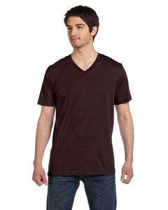 Brown Unisex Jersey Short-Sleeve V-Neck T-Shirt