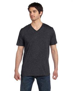 Dk Grey Heather Unisex Jersey Short-Sleeve V-Neck T-Shirt