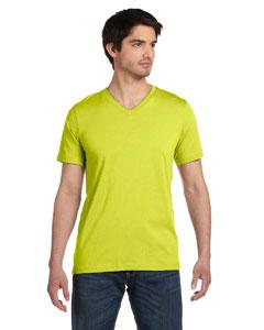 Neon Yellow Unisex Jersey Short-Sleeve V-Neck T-Shirt