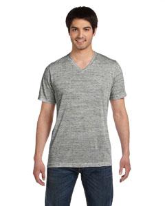 White Marble Unisex Jersey Short-Sleeve V-Neck T-Shirt