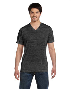 Charcoal Marble Unisex Jersey Short-Sleeve V-Neck T-Shirt