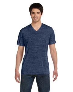 Navy Marble Unisex Jersey Short-Sleeve V-Neck T-Shirt