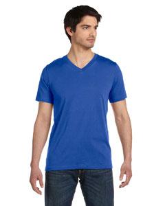Hthr True Royal Unisex Jersey Short-Sleeve V-Neck T-Shirt
