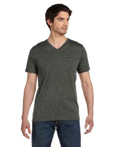 Black Marble Unisex Jersey Short-Sleeve V-Neck T-Shirt