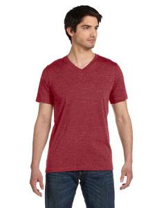 Maroon Marble Unisex Jersey Short-Sleeve V-Neck T-Shirt