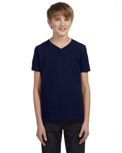 Navy Youth Jersey Short-Sleeve V-Neck T-Shirt