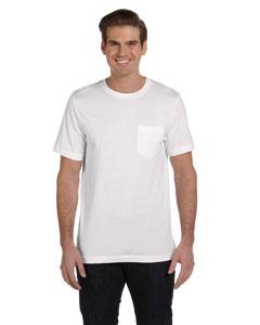 White Men's Jersey Short-Sleeve Pocket T-Shirt