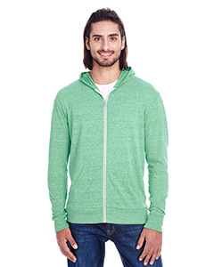 Green Triblend Unisex Triblend Full-Zip Light Hoodie
