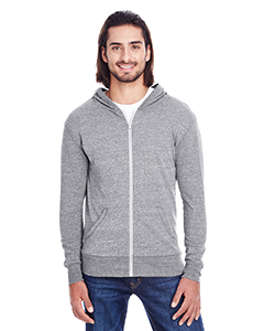 Grey Triblend Unisex Triblend Full-Zip Light Hoodie