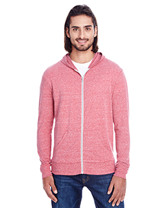 Red Triblend Unisex Triblend Full-Zip Light Hoodie