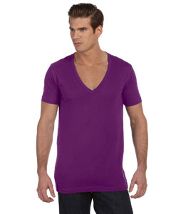 Team Purple Unisex Jersey Short-Sleeve Deep V-Neck T-Shirt