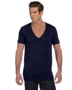Midnight Unisex Jersey Short-Sleeve Deep V-Neck T-Shirt