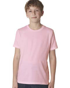 Light Pink Boys' Premium Short-Sleeve Crew Tee