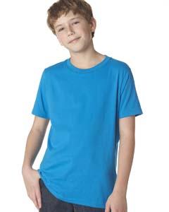 Turquoise Boys' Premium Short-Sleeve Crew Tee