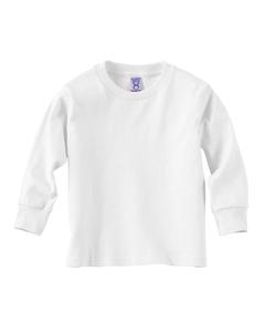 White Toddler 5.5 oz. Jersey Long-Sleeve T-Shirt