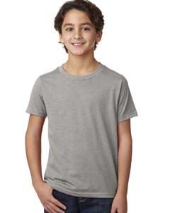 Dark Hthr Gray Boys' CVC Crew Tee
