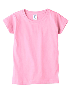 Pink Toddler 4.5 oz. Girls' Fine Jersey Longer Length T-Shirt