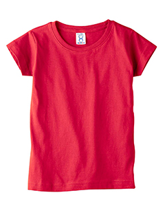 Red Toddler 4.5 oz. Girls' Fine Jersey Longer Length T-Shirt