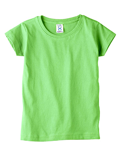 Key Lime Toddler 4.5 oz. Girls' Fine Jersey Longer Length T-Shirt