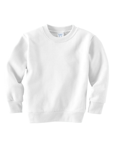 White Toddler 7.5 oz. Fleece Sweatshirt