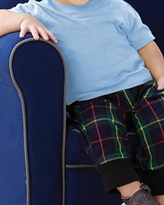 Light Blue Infant 4.5 oz. Fine Jersey T-Shirt