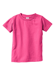 Hot Pink Infant 4.5 oz. Fine Jersey T-Shirt