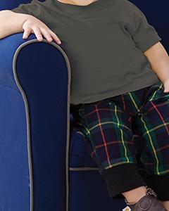Charcoal Infant 4.5 oz. Fine Jersey T-Shirt