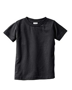 Black Infant 4.5 oz. Fine Jersey T-Shirt