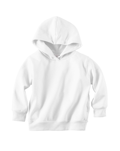 White Toddler 7.5 oz. Fleece Pullover Hood