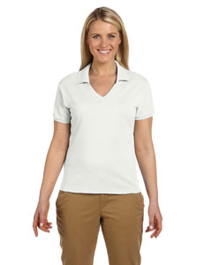 White Women's 5.6 oz., 50/50 Jersey Polo with SpotShield™