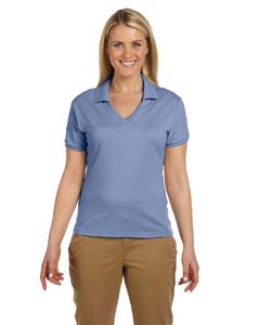 Light Blue Women's 5.6 oz., 50/50 Jersey Polo with SpotShield™