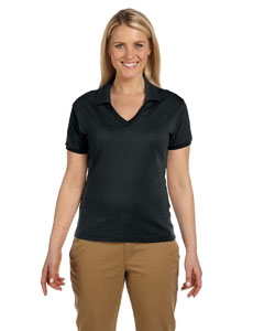 Black Women's 5.6 oz., 50/50 Jersey Polo with SpotShield™
