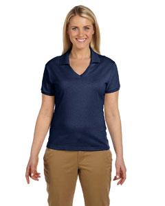 J Navy Women's 5.6 oz., 50/50 Jersey Polo with SpotShield™