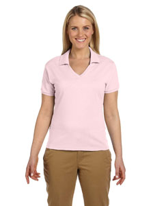 Classic Pink Women's 5.6 oz., 50/50 Jersey Polo with SpotShield™