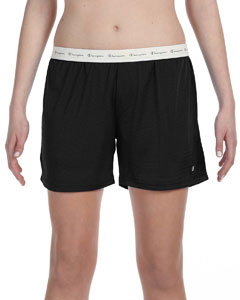 Black Ladies' Active Mesh Shorts