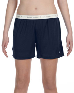 Navy Ladies' Active Mesh Shorts